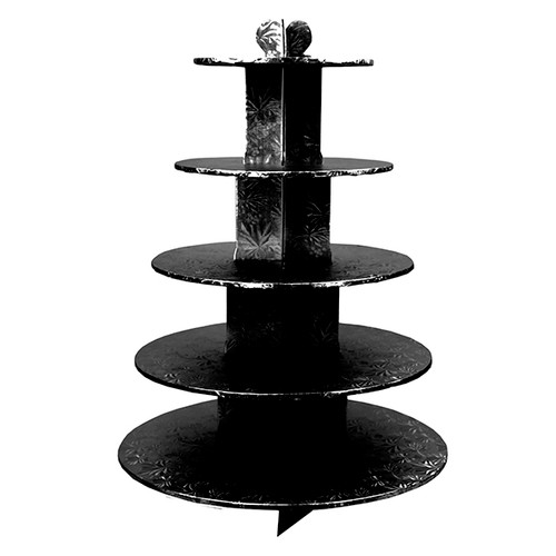 Enjay - CS-5T-BLACK - Cup Cake Stand 5 Tier Black EACH/Pack