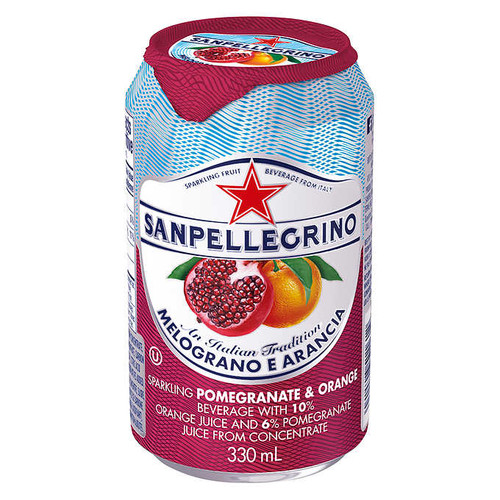 San Pellegrino Sparkling Beverage Melograno Arancia (Pomegranate Orange), 330 mL