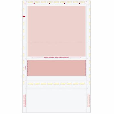 Z-Fold Eccentric, Burgundy Check w/ Burgundy Remit, 8 1/2 x 14