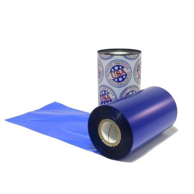 """Wax Ribbon: 2.00"""" x 1,181' (50.8mm x 360m), Ink on Inside, Blue, $11.00 per roll"""