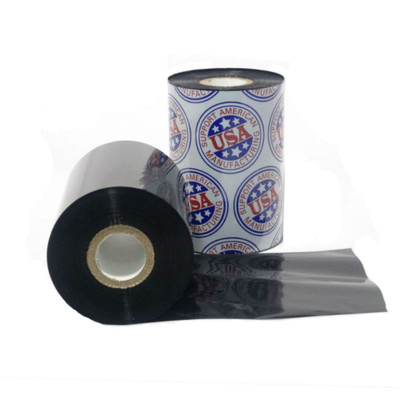 "Wax Ribbon: 2.09"" x 1,345' (53.0mm x 410m), Ink on Inside, General Use, $2.67 a roll"