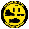 PPE Customizable Floor Safety Sign