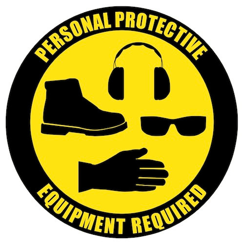 Ppe Customizable Floor Safety Sign In Stock And Ready To Ship