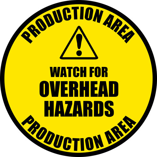 OverHead Hazards Safety Floor Sign