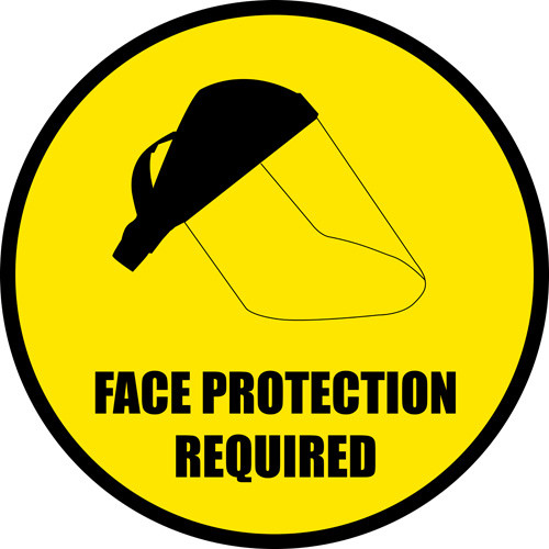 Face Protection Floor Sign and Customizable Signs