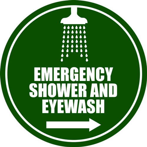 Emergency Shower and Eyewash Right Sign