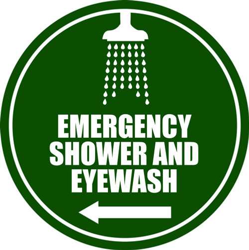 emergency shower and eyewash floor sign