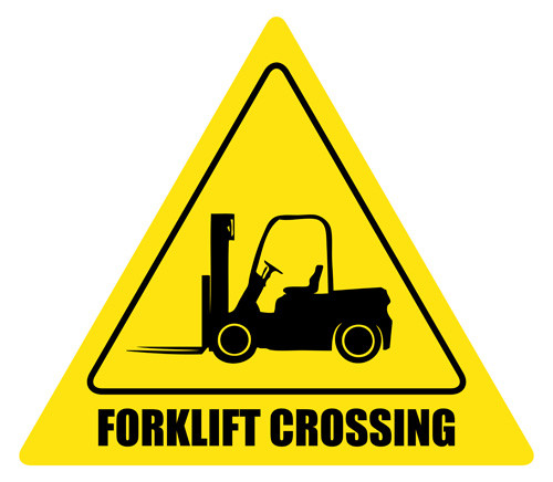 Forklift Crossing Sign