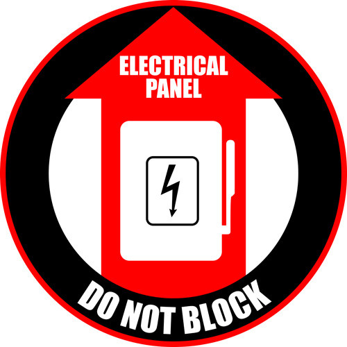 Electrical Panel Do Not Block red/black Sign
