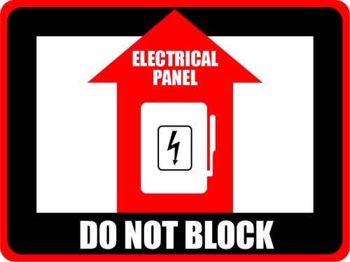 Elec. Panel - Do Not Block Rect. Sign