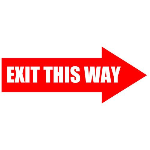 Exit This Way Arrow Sign