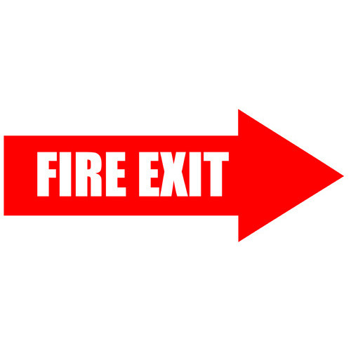Fire Exit Arrow Sign