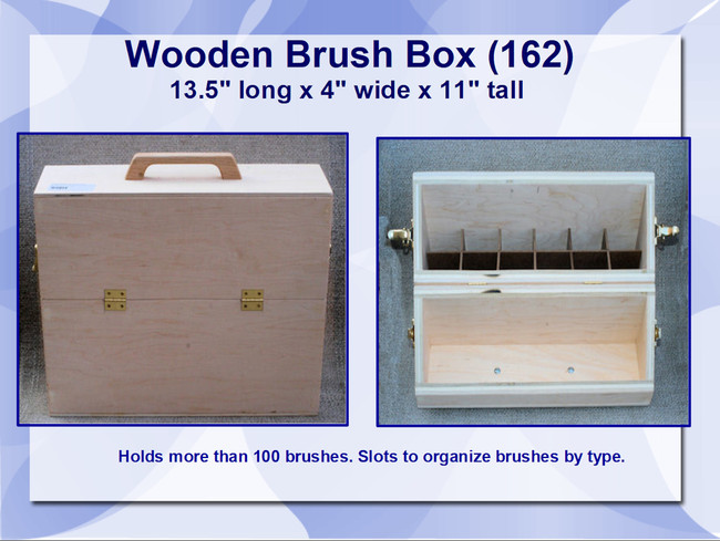 "Wood - Box,  Brush 13.5' x 11' x 4"" (162)"
