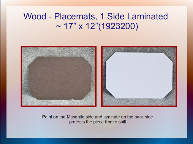 "Wood - Placemats, Laminated ~17"" x 12"" (1923200)"
