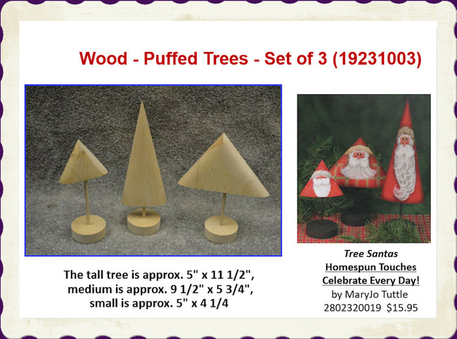 Wood - Puffed Trees - Set of 3 (19231003)