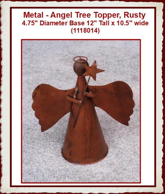 Metal - Angel Tree Topper, Rusty (1118014)