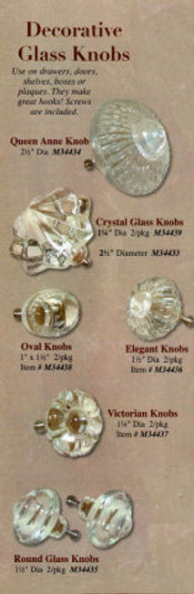 Glass - Glass Knobs Decorative -7 Different Sets