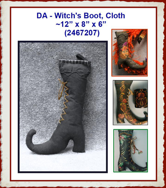 "DA - Witch's  Boot, Cloth  ~12"" x 8"" x 6"" (2467207)"