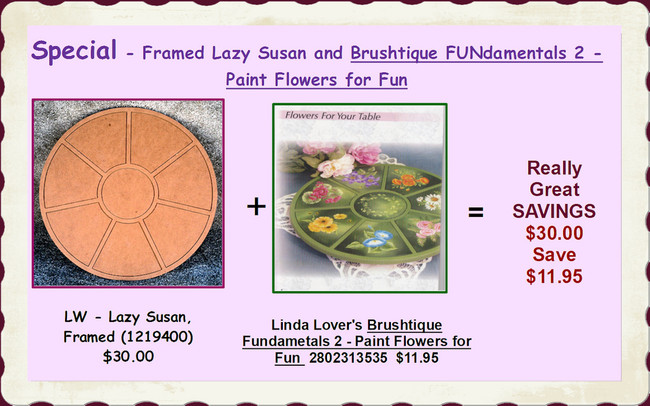 Special - Framed Lazy Susan and Brushtique FUNdamentals 2