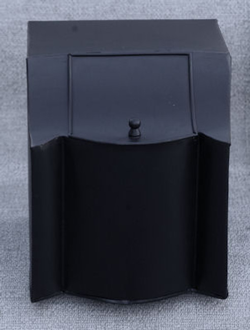 Black Metal Meal Bin -OUT OF STOCK - FUTURE SUPPLY UNLIKELY