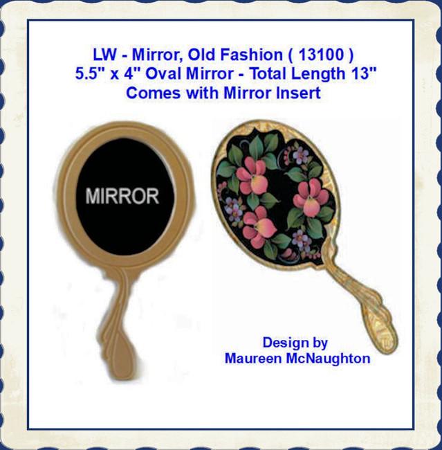 """LW - Mirror, Old Fashion  5.5"""" x 4 x 13"""" Long ( 13100 )"""