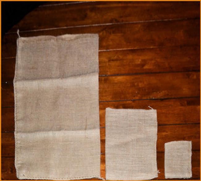 Burlap Bags - 3 Different Sizes