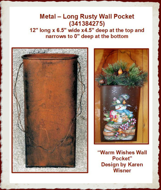 "Metal - Wall Pocket, Long 12"" x 6.5"" (341384275)"