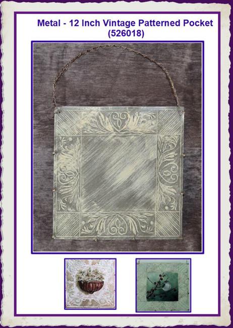 Metal - 12 Inch Vintage Patterned Pocket (526018)