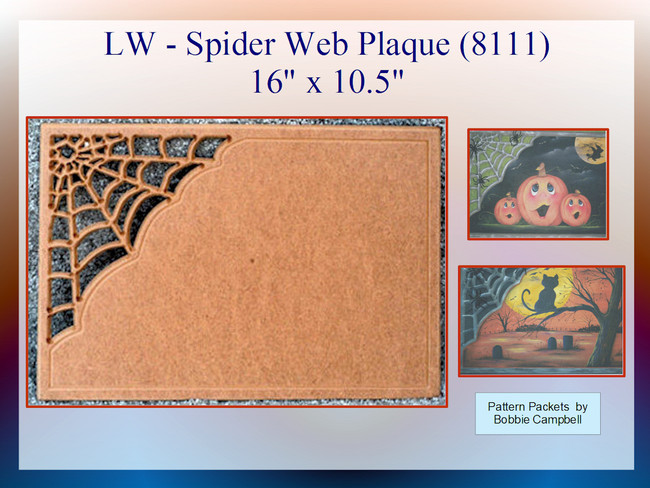 LW - Spider Web Plaque (8111)
