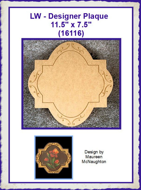 "LW - Cross Plaque 11.5"" 11.5"" (16116)"
