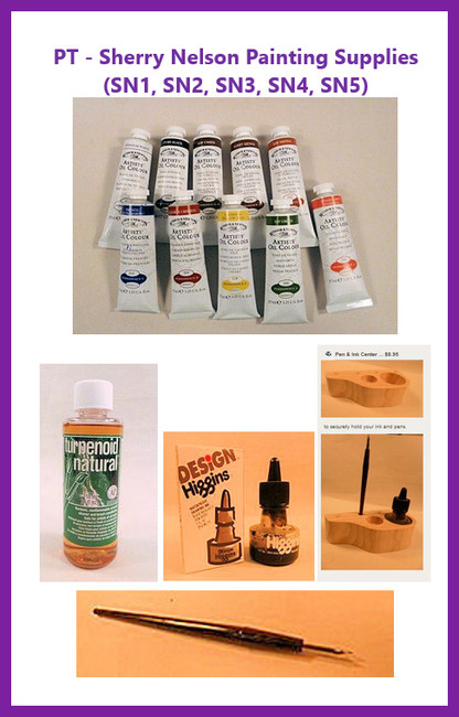 PT - Sherry Nelson Painting Supplies (SN1, SN2, SN3, SN4, SN5)