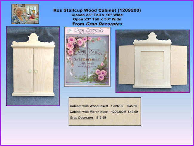 "Ros Stallcup Wood Cabinet (1209200) Closed 23"" Tall x 16"" Wide Open 23"" Tall x 30"" WideFrom Gran Decorates"