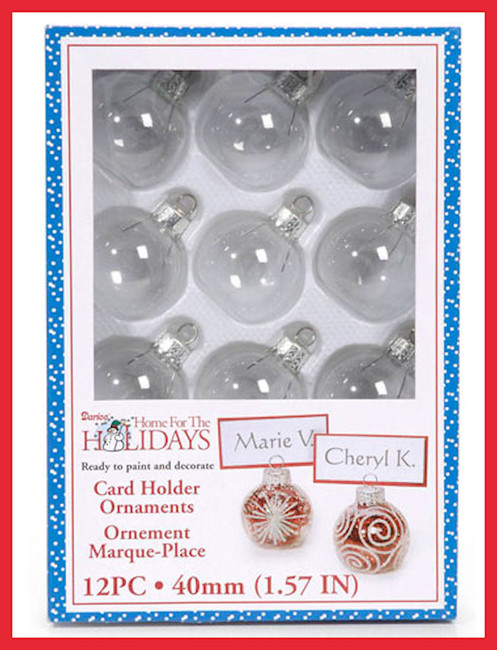 Box of 12 Card Holder Ornaments