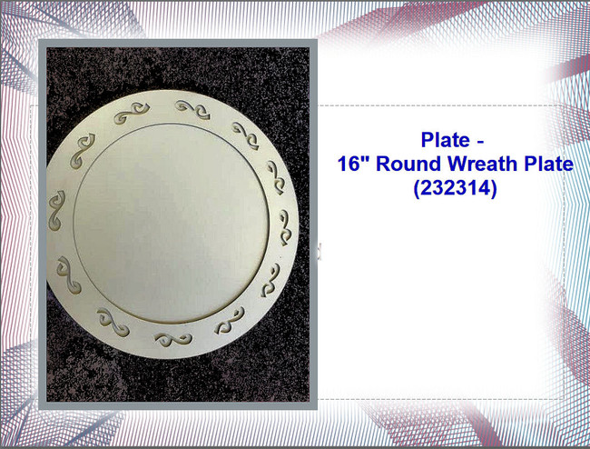 "Plate - 16"" Round Wreath Plate (232314)"
