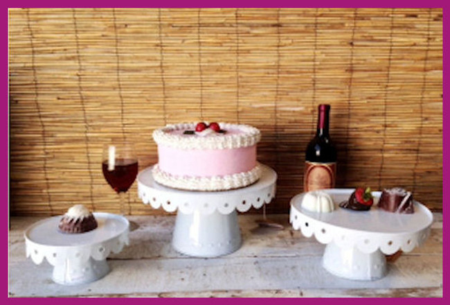 Scalloped Cake Stands - 3 Sizes (115922512, 115922513, 115922519)