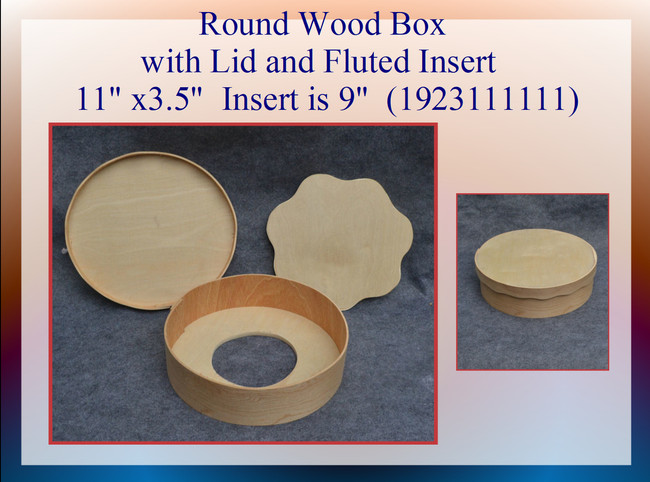 Wood - Round Box with Fluted Insert (1923111111)