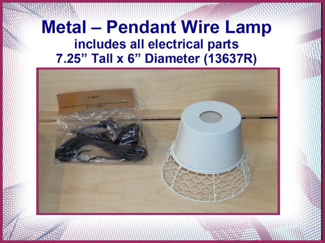 DA - Metal Pendant Wire Lamp with Electrical Parts (13637R)