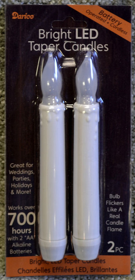 """Set 1 - Two 6"""" Candles"""