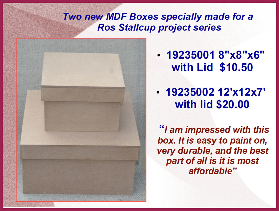 Wood - MDF Boxes with Lids (19235001, 19235002)
