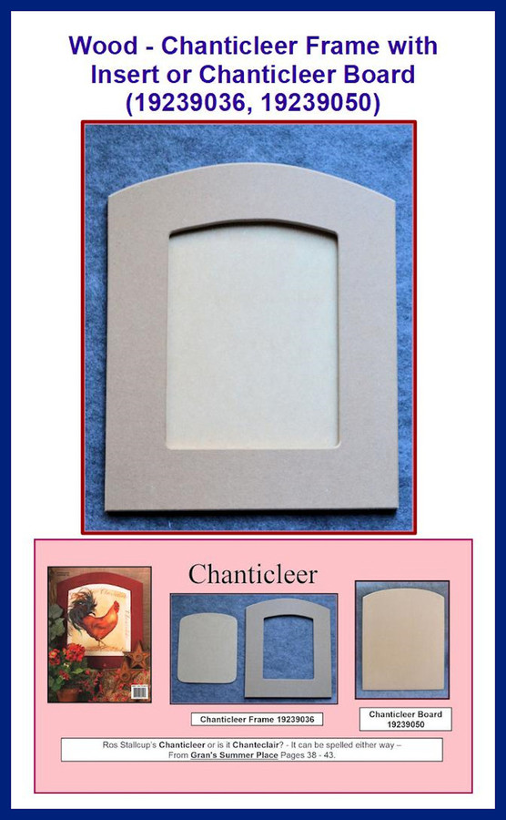 Wood - Chanticleer Frame with Insert(19239036) Chanticleer Board ( 19239050)