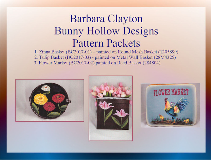 PP - Pattern Packets by Barbara Clayton of Bunny Hollow (BC2017-xx)