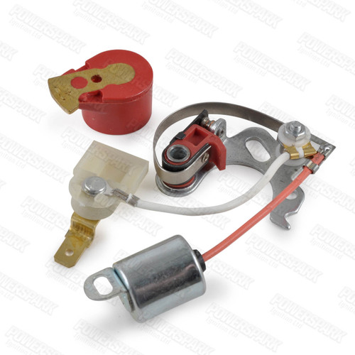 Lucas 25D Points & Condenser Set with Powermax Red Rotor Arm (PO3 & R1)