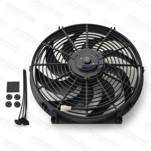 "14"" Powermax Electric Radiator Cooling Fan  220W 12 Volt"