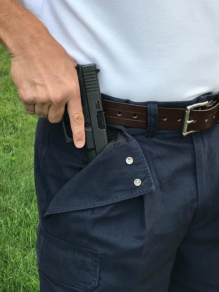 Dark Blue Cargo Shorts