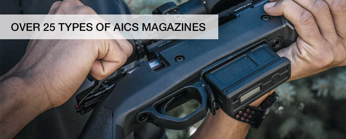 We stock over 25 types of AICS magazines
