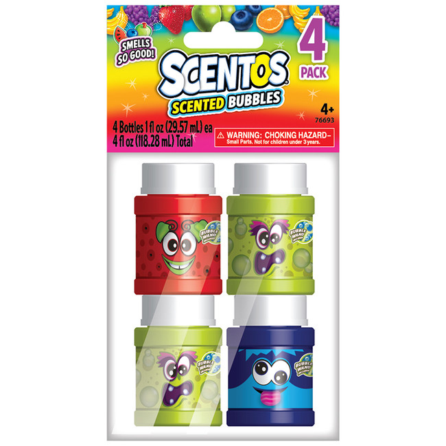 Scentos Scented Bubbles - 4 Count