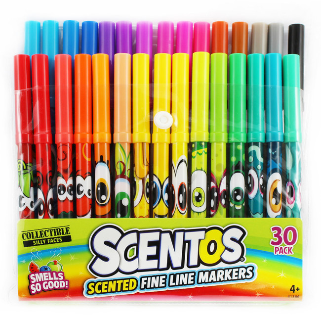 Scentos Scented Fine Line Markers - 30 Count