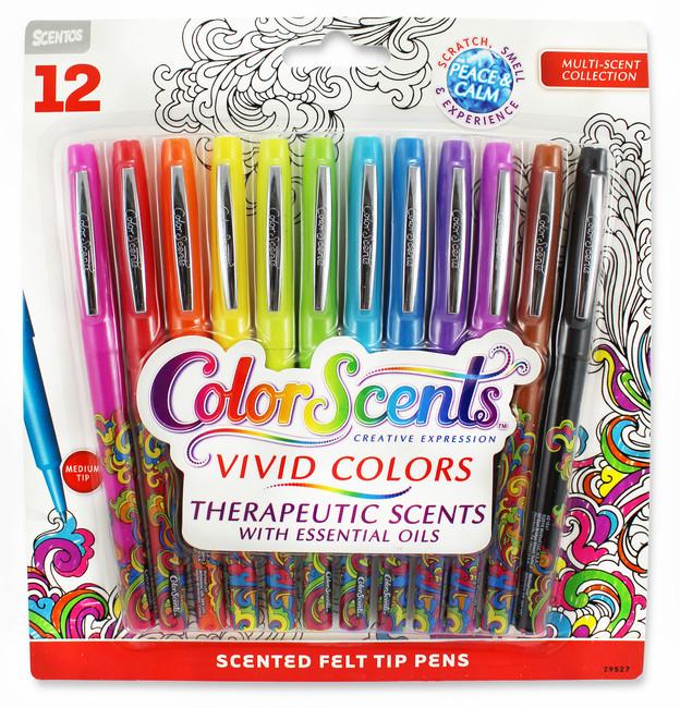 ColorScents Scented Felt Tip Pens - Peace & Calm - 12 Count