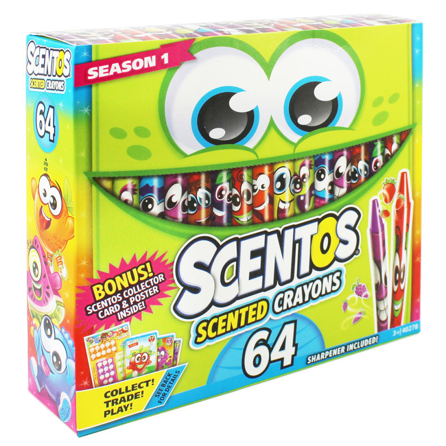 Scentos Scented Crayons - 64 Count