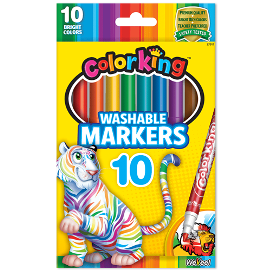 ColorKing Fine Line Washable Markers - 10 Count
